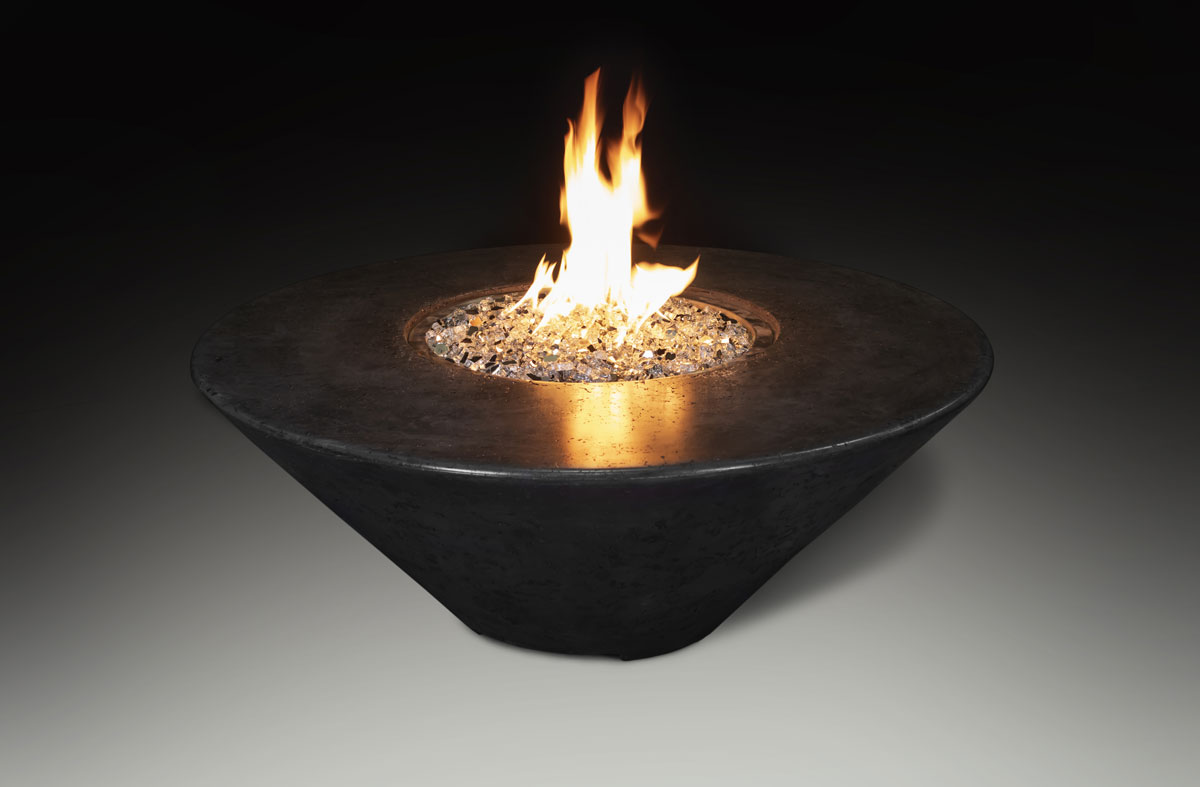 Fire Table Round Black