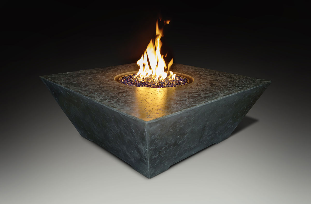 Fire Table Square Black