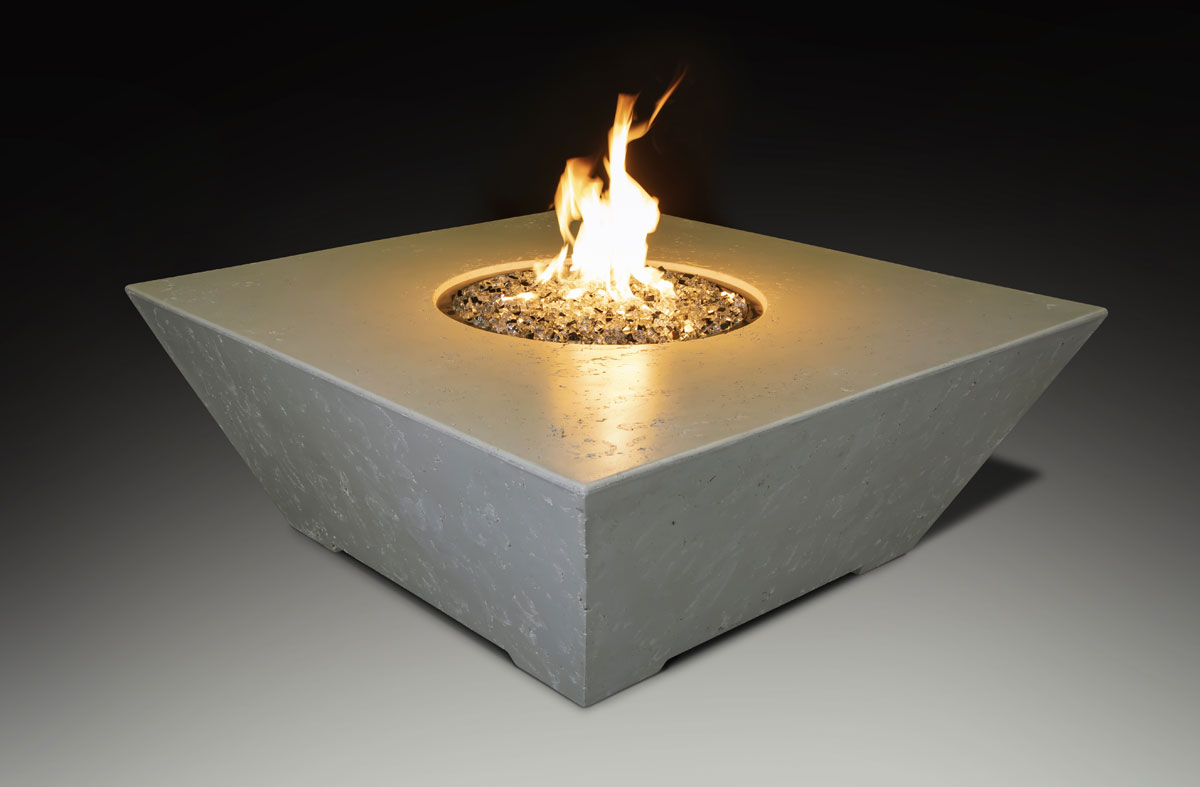 Fire Table Square Bone