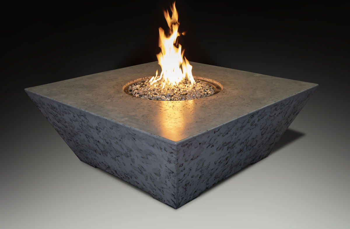 Fire Table Square Gray